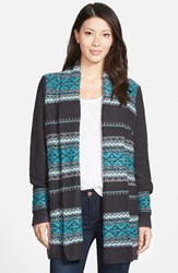 Women's Nydj 'Car Coat' Fair Isle Knit Cardigan