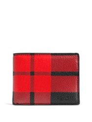 Coach Plaid Billfold Wallet