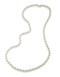 Carolee Hematite And Faux Pearl Necklace Silver