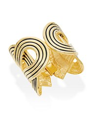 Kenneth Jay Lane Enamel Cuff Bracelet Polished Gold