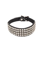 R 13 R13 Square Studded Choker In Black
