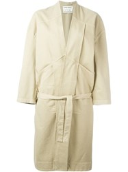 Henrik Vibskov 'Chock Long' Coat Nude And Neutrals
