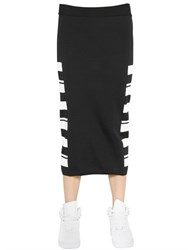 Aviu Striped Viscose Knit Pencil Skirt