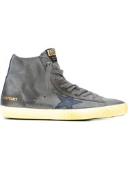 Golden Goose Deluxe Brand Star Patch Hi Top Sneakers Grey
