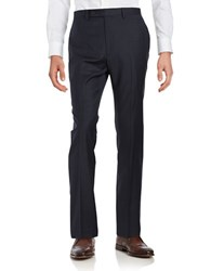 Lauren Ralph Lauren Wool Pin Check Dress Pants Navy