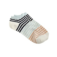 J.Crew Striped Ankle Socks Vintage Champagne