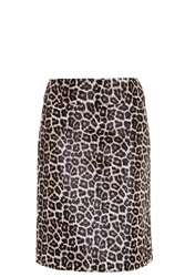 Theory Leopard Print Skirt Multi