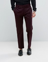 Religion Skinny Cropped Trouser In Burgundy Burgundy Red