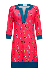 Almost Famous Bird Print Tunic Pink