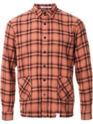 Bedwin And The Heartbreakers Checked Button Down Shirt Yellow Orange