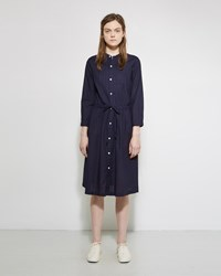 Blue Blue Japan Tuck Shirt Dress Indigo