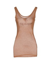 Only 4 Stylish Girls By Patrizia Pepe Tank Tops Camel