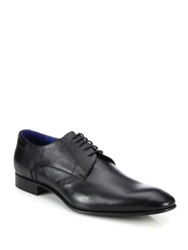 Saks Fifth Avenue Frazier Textured Leather Derby Shoes Black
