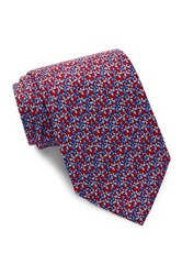 Tailorbyrd Butterfly Silk Tie Red
