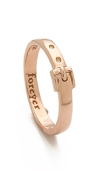 Monica Rich Kosann Forever Buckle Ring Rose Gold