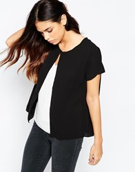 Wal G Top With Contrast Insert Black