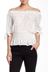 Yoana Baraschi Croisette Off The Shoulder Blouse White