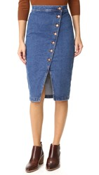 Madewell Denim Midi Skirt Denim Wash