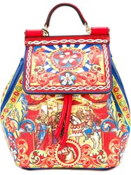 Dolce And Gabbana 'Miss Sicily Carreto' Backpack Multicolour