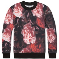Ami Alexandre Mattiussi Ami All Over Print Floral Crew Sweat Pink And Red