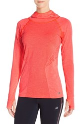 Women's New Balance 'Premium Made For Movement' Seamless Hoodie Dragonfly Heather