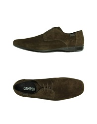 Camper Lace Up Shoes Dark Brown