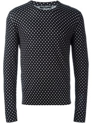 Dolce And Gabbana Polka Dot Sweater Black