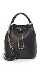 Diane Von Furstenberg Love Power Drawstring Bucket Bag Black
