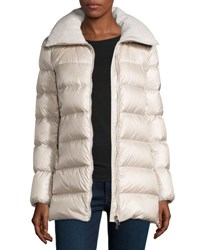 Moncler Torcyn Quilted Wool Lined Puffer Coat Ivory