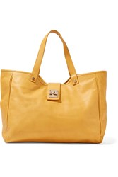 M Missoni Leather Tote Yellow