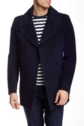 J. Lindeberg Wilton 47 Wool Blend Coat Blue