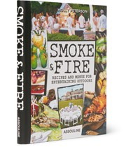 Assouline Smoke And Fire Recipes And Menus For Entertaining Outdoors Hardcover Book Black