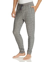 Emporio Armani French Terry Jogger Pants Dark Grey Melange