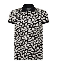 Saint Laurent Mega Stars Polo Shirt Male Black