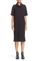 Public School Women's Rib Knit And Silk Dress Black