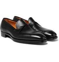 Gaziano And Girling Antibes Leather Loafers Black