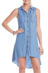 Women's Karen Kane Sleeveless Chambray Trapeze Shirtdress