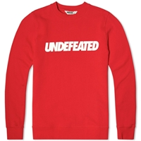 Undefeated Text Crew Neck Sweat Red