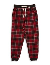 Original Penguin Flannel Jogger Sleep Pants Red
