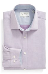 Ted Baker Men's Big And Tall London 'Audon' Trim Fit Solid Dress Shirt Pink