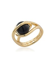 Trina Turk Psychedlica Caged Ring Size 7 Black
