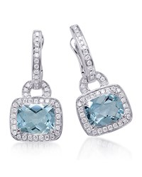 Aquamarine And Diamond Drop Earrings Frederic Sage Green