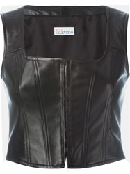 Red Valentino Laced Corset Top Black