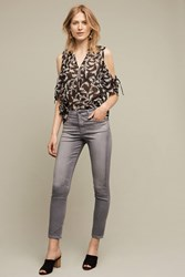 Anthropologie Ag Stevie Ultra High Rise Ankle Jeans Grey