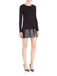 Bailey 44 Sedgwick Faux Leather Sheath Dress Black
