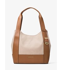 Marlon Large Canvas And Leather Shoulder Tote
