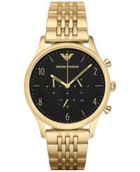 Emporio Armani Men's Chronograph Beta Gold Tone Stainless Steel Bracelet Watch 41Mm Ar1893
