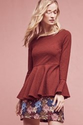 Anthropologie Kalila Flare Top Wine