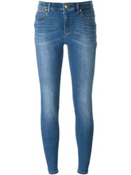 Michael Michael Kors Stonewashed Effect Skinny Jeans Blue