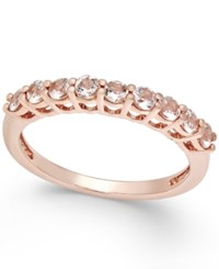 Macy's Morganite Thin Band 1 2 Ct. T.W. In 18K Rose Gold Vermeil Light Pink